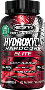 Hydroxycut Elite Hardocre Muscletech isi 100 capsule – Capsul warna Merah