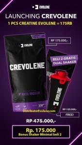 Crevolene Creatine Evolene 330 Gram BPOM Halal